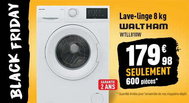 Lave linge 8 kg WALTHAM WTLL810W