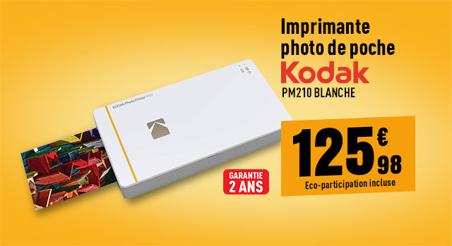 Imprimante photo de poche KODAK PM210 White