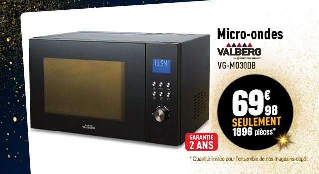 Micro-ondes monofonction VALBERG VG-MO30DB