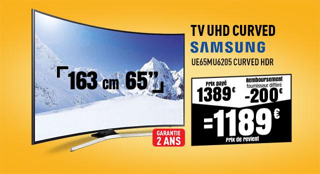 TV UHD 4K SAMSUNG UE65MU6205 CURVED HDR