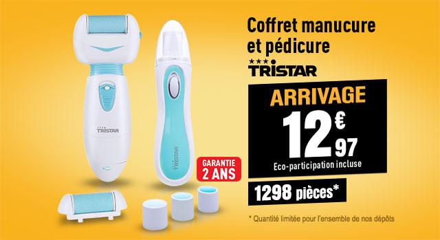 COFFRET TRISTAR Coffret manicure et pédicure