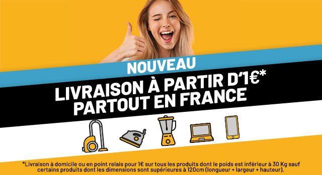 Livraison à partir d'1€ partout en France