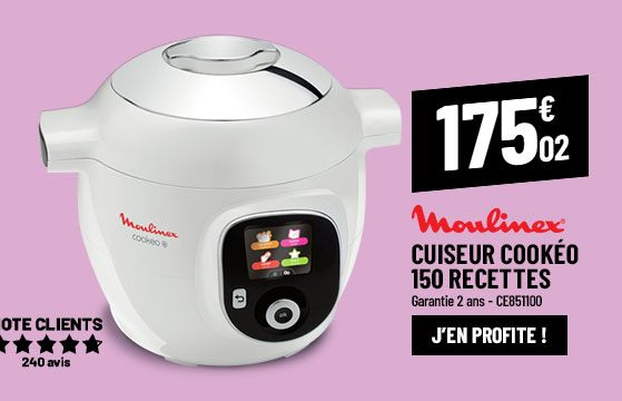 Cuiseur MOULINEX CE851100 COOKEO 150 recettes