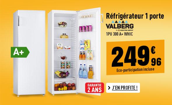 Réfrigérateur VALBERG 1PU 300 A+ WHIC