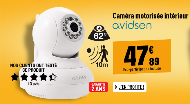 Caméra AVIDSEN MOTORISÉE INTERIEUR