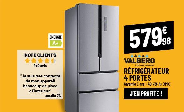 Réfrigérateur 4 portes VALBERG 4D 436 A+ XMIC