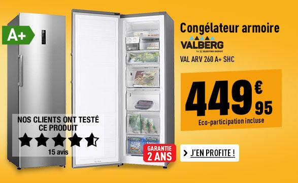 Congélateur armoire VALBERG VAL ARV 260 A+ SHC