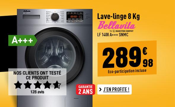 Lave-linge BELLAVITA LF 1408 A+++ SNMC