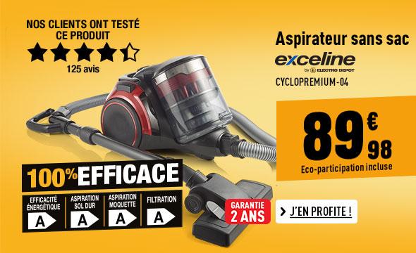 Aspirateur EXCELINE CYCLOPREMIUM-04 4A