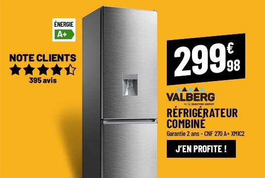 Réfrigérateur combiné VALBERG CNF 270 A+ XMIC2