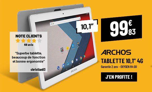 Tablette ARCHOS 10,1'' Oxygen 4G (emplacement carte SIM) 64Go