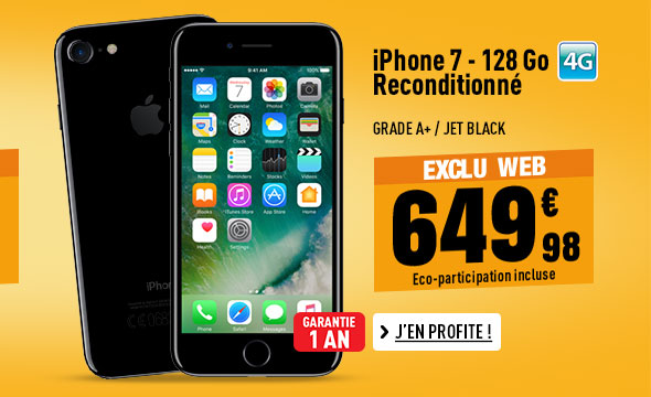 APPLE iPhone 7 128 Go Jet Black reconditionné grade A+