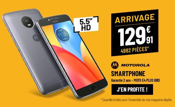 Smartphone MOTOROLA Moto E4 Plus Gris