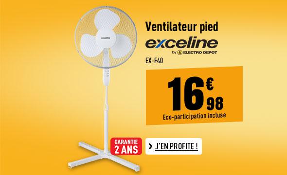 Ventilateur pied EXCELINE EX-F40