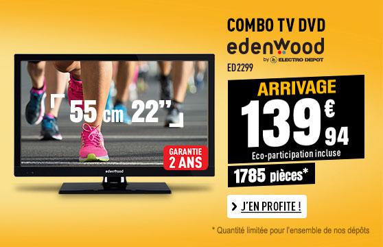 COMBO TV / DVD EDENWOOD ED2299 12-220V