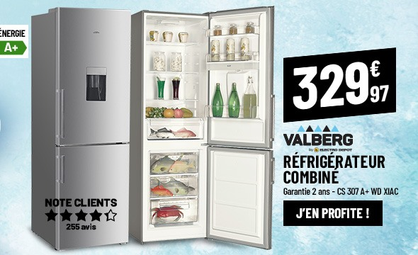 Réfrigérateur combiné VALBERG CS 307 A+ WD XIAC