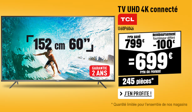 TV UHD 4K TCL U60P6046 ANDROID WEB DLNA