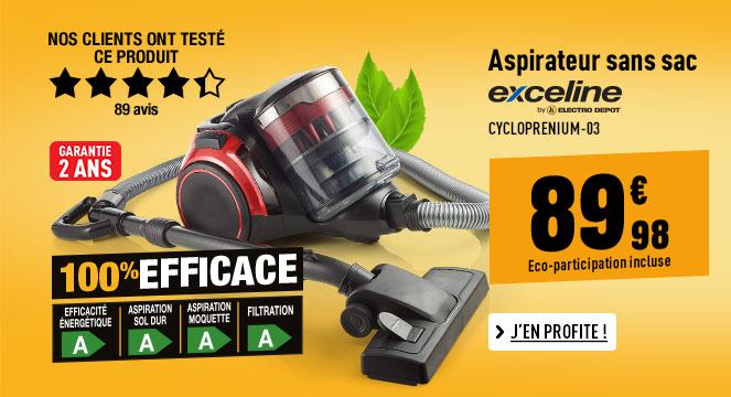 Aspirateur EXCELINE CYCLOPREMIUM-03 4A