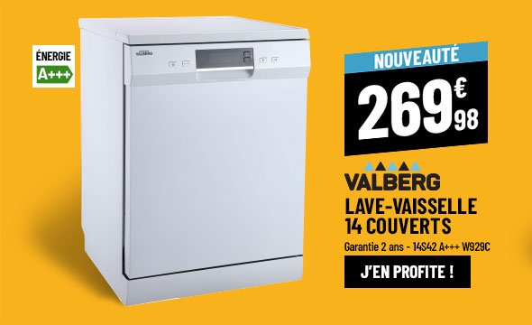 Lave-vaisselle 14 couverts VALBERG 14S42 A+++ W929C