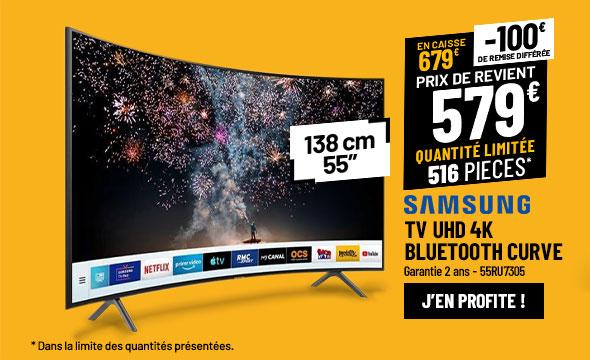 TV UHD 4K SAMSUNG 55RU7305 Incurvé Smart Wifi