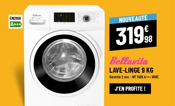Lave-linge frontal BELLAVITA WF 1409 A+++ WHIC