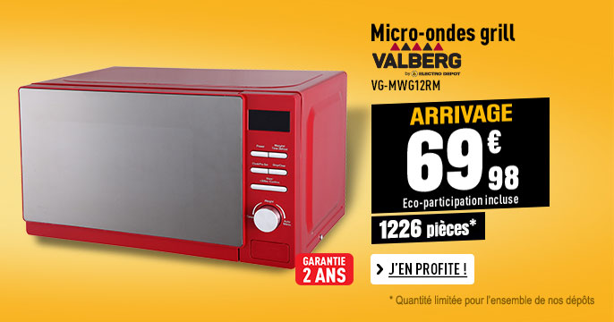 Micro-ondes grill VALBERG VG-MWG12RM