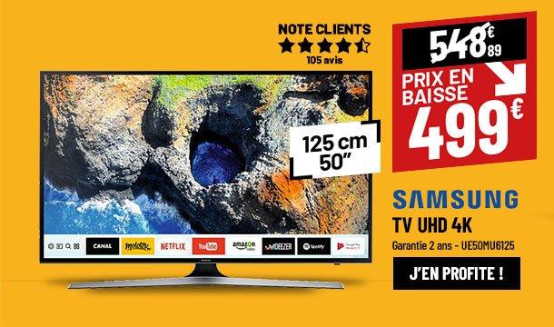 TV UHD 4K SAMSUNG UE50MU6125