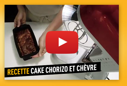 Recette du cake chorizo chèvre