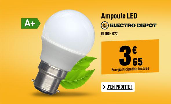 Ampoule ELECTRO DEPOT LED Globe B22