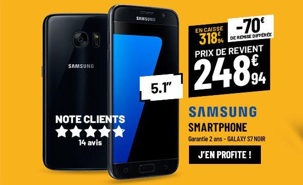 Smartphone SAMSUNG GALAXY S7 noir