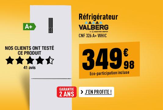 Réfrigérateur VALBERG CNF 326 A+ WHIC