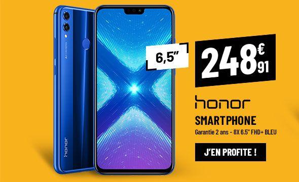 SMARTPHONE HONOR 8X 6.5'' FHD+ bleu