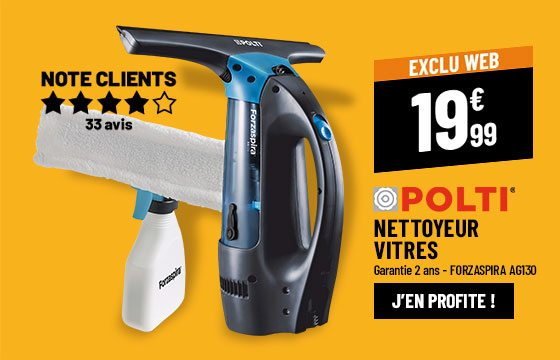 Nettoyeur vitres POLTI Forzaspira AG130