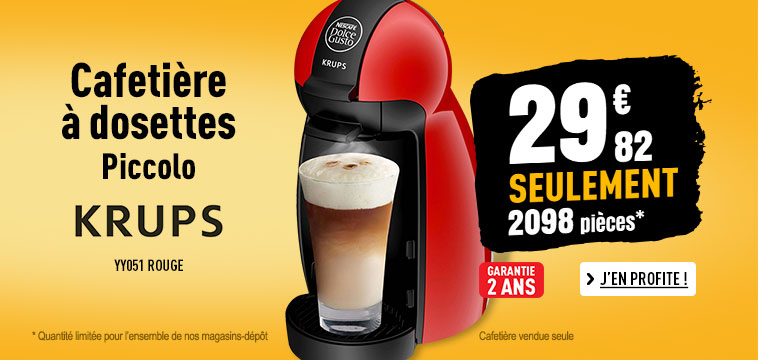 Expresso KRUPS Piccolo YY1051FD rouge