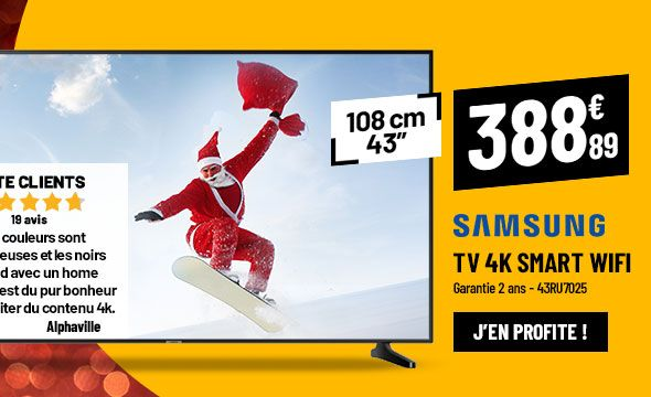 TV 4K SAMSUNG 43RU7025 Smart Wifi