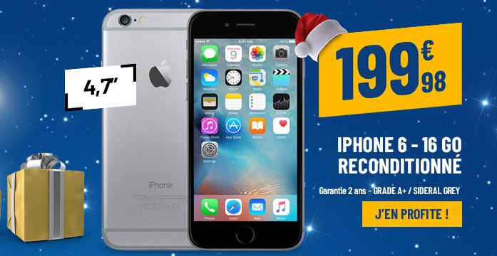 APPLE iPhone 6 16 Go Sideral Grey reconditionné grade A+