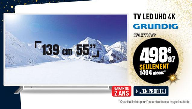 TV UHD 4K GRUNDIG 55VLX7730WP CONNECTE H