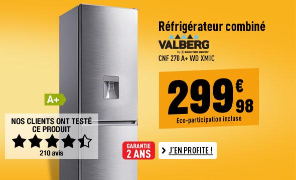 Réfrigérateur VALBERG CNF 270 A+ WD XMIC