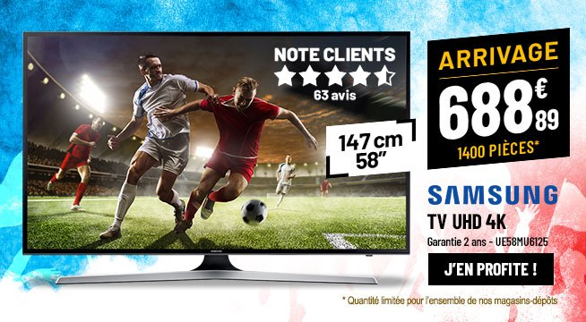 TV UHD 4K SAMSUNG UE58MU6125