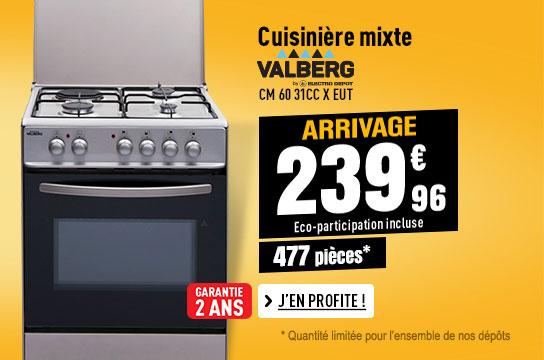 Cuisinière Mixte VALBERG CM 60 31CC X EUT