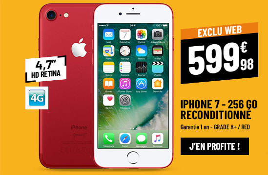 APPLE IPHONE 7 256 GO RED RECONDITIONNÉ