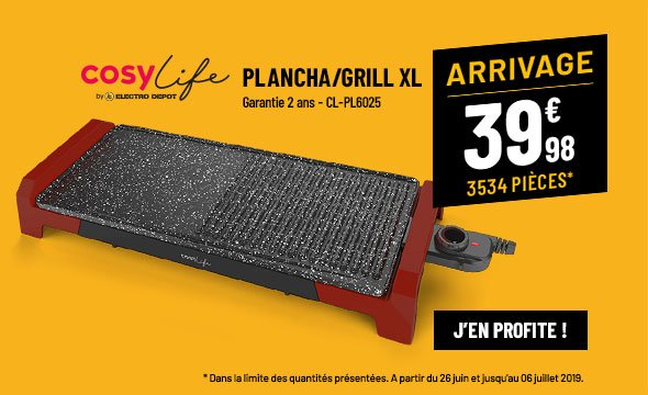 Plancha COSYLIFE CL-PL6025 plancha/grill