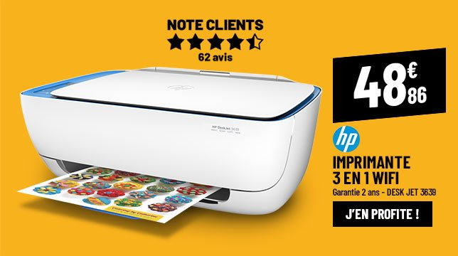 Imprimante multifonction HP Desk Jet 3639 blanche