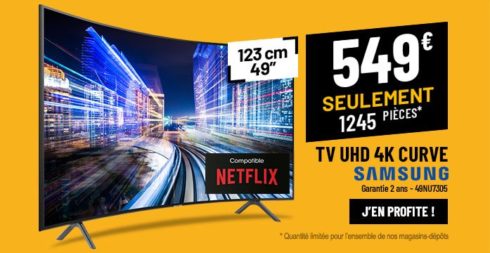 TV UHD 4K SAMSUNG UE49NU7305 Smart Wifi