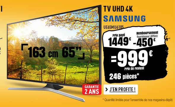 TV UHD 4K SAMSUNG UE65MU6105