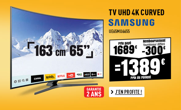TV UHD 4K CURVED SAMSUNG UE65MU6655