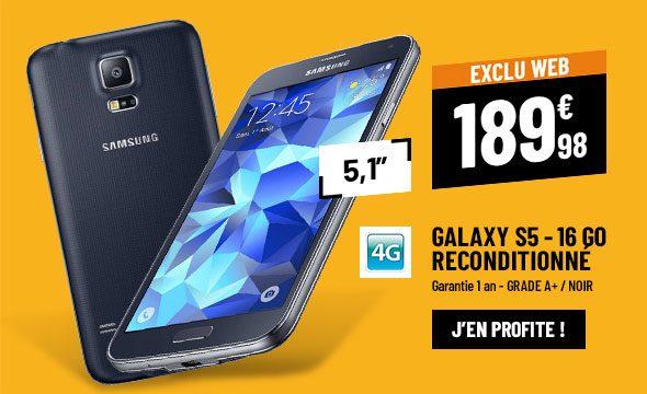 Samsung Galaxy S5 16 Go Reconditionné