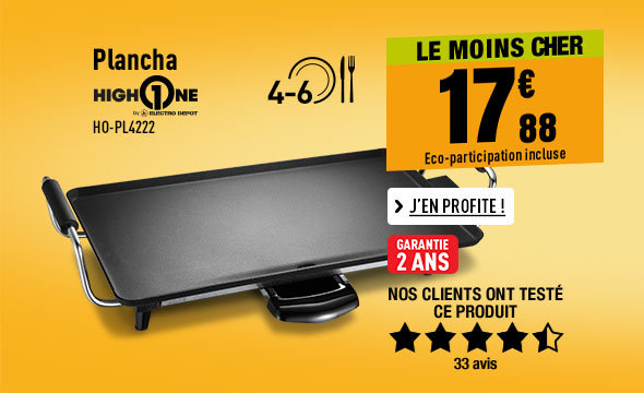 Plancha HIGH ONE HO-PL4222