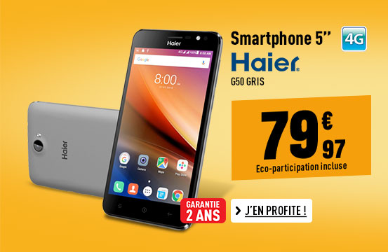 Smartphone HAIER G50 4G gris
