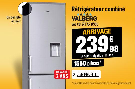 Réfrigérateur VALBERG VAL CB 244 A+ D SSC